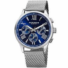 Akribos XXIV AK844 Blue Dial Multifunction Men's Watch NO BOX