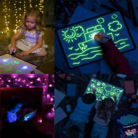 Magic Draw With Light Fun Developing Toy Writing Board Kid Educational Best D9E3
