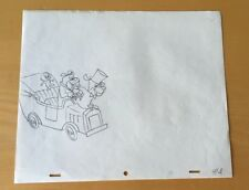 Huckleberry Hound, Production Cel Pencil Drawing Opening Title Hanna Barbera