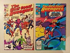 Lot of 2 West Coast Avengers #s 18 46 (small tear in 46 cover) Comics L1
