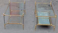 1950/70' Paire de Tables Basses Maison Jansen 103 x 54 cm