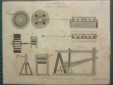 1804 datato antico stampa ~ sbiancamento di lavaggio e pulizia dei macchinari in sezione