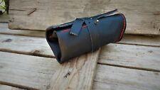 Black Travel  Leather Watch Roll Holder case Bag Storage handmade Pouch