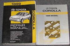 1999 Toyota Corolla Service Repair Manual Set