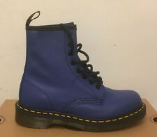 DR. MARTENS 1460  WILD BLUE  SOFTY T  LEATHER  BOOTS SIZE UK 4