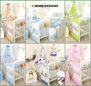 BOY GIRL 3,5,7,9 COT BEDDING SET NURSER BABY COT OR COT BED SET +MORE DESIGS