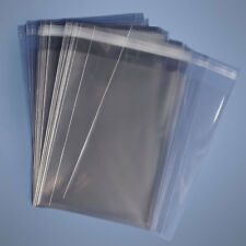 200 5-1/4 x7-1/4 A7 Clear Resealable Cello 1.6 Mil Cellophane Card Sleeves Bags