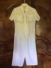 Ensemble femme chemise et pantalon lin blanc taille 38/40