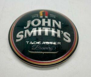 JOHN SMITHS BITTER CIRCULAR FISH EYE PUMP BADGE - LENS T BAR PUB HOME BAR