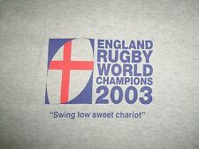 Rugby World Champions England 2003 Grey Graphic Print T Shirt L