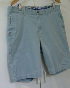 Tommy Bahama Aqua Blue Flat Front Cotton Corduroy Shorts 36