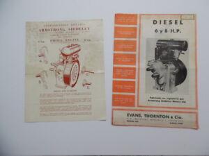 c.1950 Armstrong Siddeley Compression Ignition Air Cooled Engine Brochure Lot UK