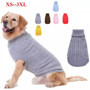 XS-3XL Knitted Dog Sweater Pet Clothes Cat Coat  Puppy for Chihuahua Teacup
