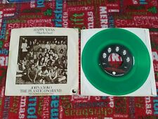 The Beatles John Lennon Apple 45 record HAPPY XMAS 1972 Green vinyl picture slve