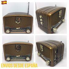 Altavoz Vintage Mini Bluetooth Estilo Antiguo Radio FM/AM/SW USB SD AUX MP3
