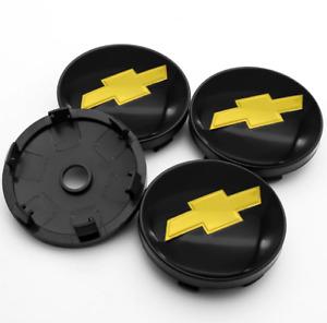 *NEW* 4pcs 60mm for Chevrolet Full Black Wheel Center Caps Rim Caps Hub Caps