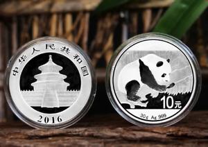 2016 China Silver Panda coin 30 gram .999 Fine 10 Yuan Chinese in Capsule