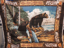 Bear Cotton fabric panel 33x39 inches