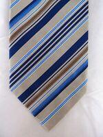 Krawatte von BURBERRY, 100% Seide, Made in Italy, Luxus, Braun Beige Blau