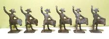 6 Lead Tambour Soldiers Napoleonic Drummers