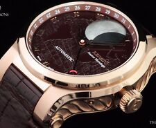 Renato Master Horologe Martin Braun Modified Patented Moonphase Rose Brown Watch