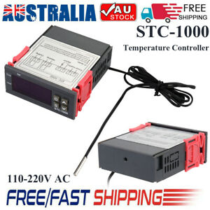 Digital Temperature Thermostat STC-1000 Controller 110-220V AC Heating Cooling
