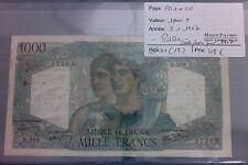 BILLET RARE!!!! 1000 F Minerve Hercule 9/1/47
