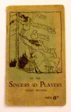 Old BSA Boy Scout Jamboree Song Book Patrol Troop Leader Camping Camp Singers
