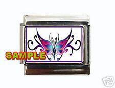 Tribal Butterfly #1 Custom Italian Charm Tattoo Cool!