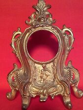 ANTIQUE FRENCH GILDED MANTEL CLOCK HOUSING GILDED IRON PICTURE FRAME DOOR STOP
