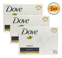 Dove Bar Soap Original White 135G 4.7OZ, Body Clean, Save Big !!
