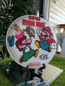 Nintendo Rare Super Mario Bros Plastic Plate Vintage 1989 8x8