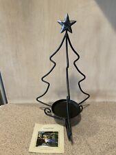 Longaberger #71562 Metalworks Wrought Iron Christmas Tree Candle Holder, New