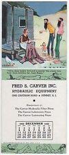 Summit, NJ, Fred Carver, Mt. Boys, December 1955 Calendar, advertising blotter