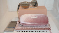 New Authentic MIU MIU Sunglasses Butterfly Rock Crystal SMU06R 57 17 UE2-5J2 140