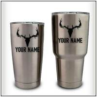 Your Name Deer Hunting Skull Decal Sticker compatible with YETI Rambler 2 pack