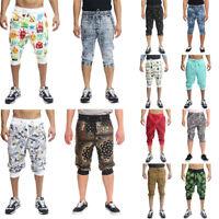 Men's Athletic 3/4 Leg Gym Workout Active Yoga Pants Capri Jogger Shorts -Part-2