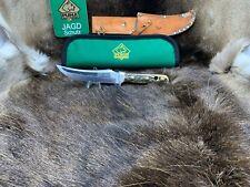 """1967 vintage Puma 6393 Skinner Coltello con fodero Stag Handle & PUMA Marsupio """"A1"""""""
