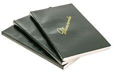 NEW  3 Pack US Army Military Green Memo Book Memorandum Notebook Side Bound