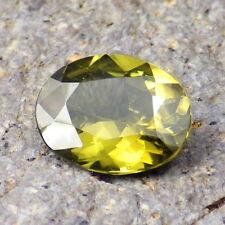 NATURAL GREEN ZIRCON-SRI LANKA 3.145Ct CLARITY SI1-LEMON GREEN CLR-FOR JEWELRY!
