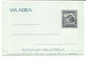 VENEZUELA: Aerogramme (letter card) 20c.Building / 1954 / Arge#1 / mint