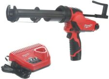 Milwaukee Cordless Caulk Gun Kit 10oz Cartridge 12V Li-Ion Multi-Speed Anti-Drip