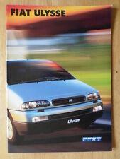 FIAT ULYSEE orig 2001 UK Mkt sales brochure