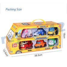 6pcs Lot Robocar Poli Toy Roy Amber Helly Transformer Robot Figure Set Kids Gift