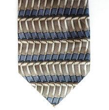 Mens tie Novelty silk Horse-shoe Magnets Brown grey Striped Tobias Barrett LONG