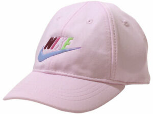 Nike Infant Girl's Swoosh Baseball Cap Dri-FIT Strapback Pink Foam Sz: 12-24M