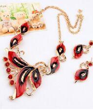 Fashion Drip Butterfly Necklace Earrings Set