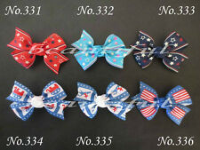 "200 BLESSING Good Girl Custom Boutique 2.5"" Wing Hair Bow Clip 420 No."