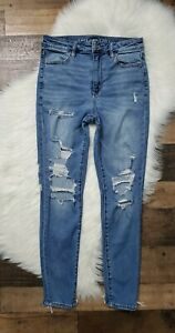 American Eagle Super High Rise Distressed Skinny Jegging Women's Size 8