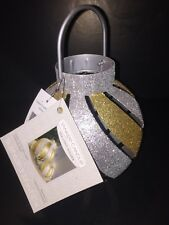 "Yankee Candle Jackson Frost Gold Ornament Tealight Holder 5.5"" x 5"" NIB"